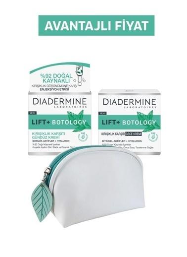 Diadermine Diadermine Lift+ Botology Kıırşıklık Karşıtı Gündüz Kremi + Gece Kremi + Makyaj Çantası Renksiz